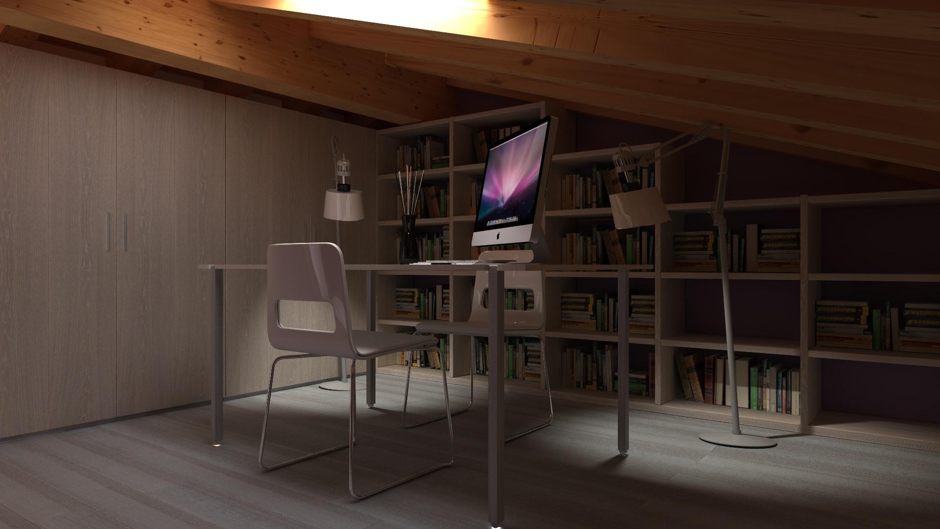progetto mansarda e 3D